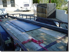 First load of steel for the framing table