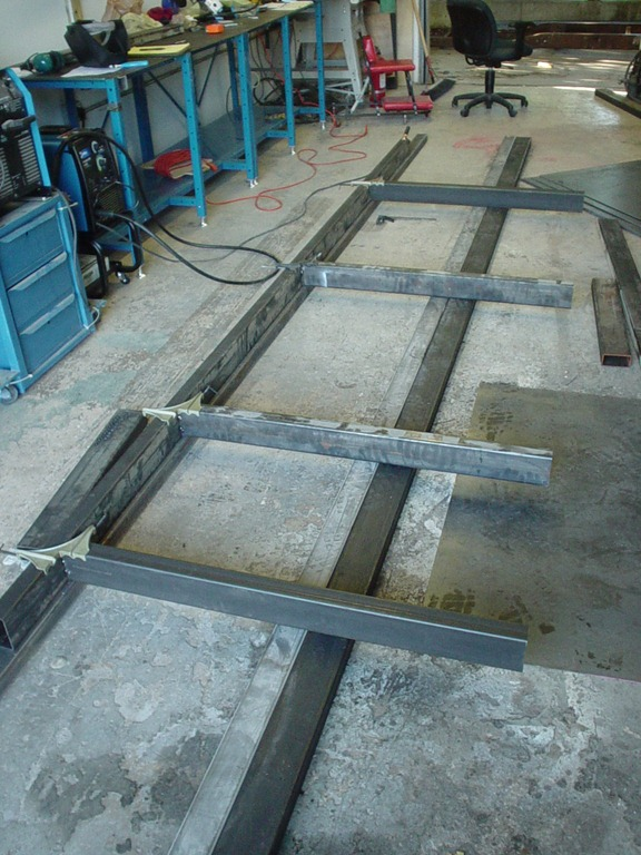 After Cutting The Main Beams And The Joists For The Framing Table. Lining  Up The
