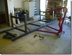 Welding table is finished, getting ready to flip the table.